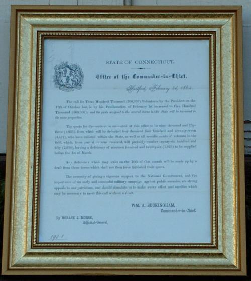 Antique State of Connecticut Civil War Document