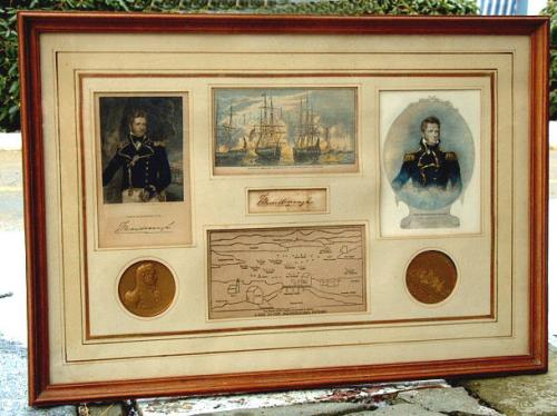 Antique Signed Commodore Thomas MacDonough Collage