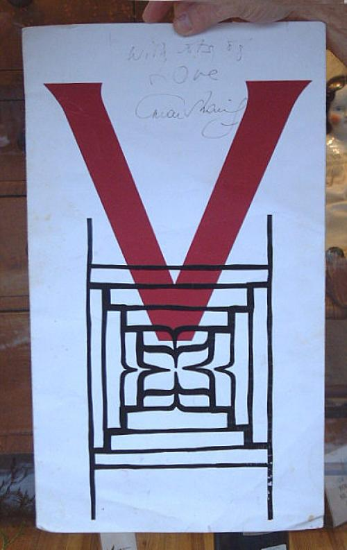 Autographed restaurant menu by Omar Shariff