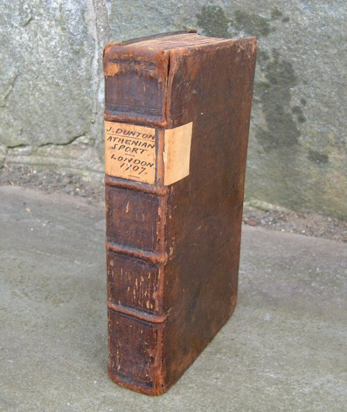Antique Athenian Sport Leather Bound Book by J Dunton