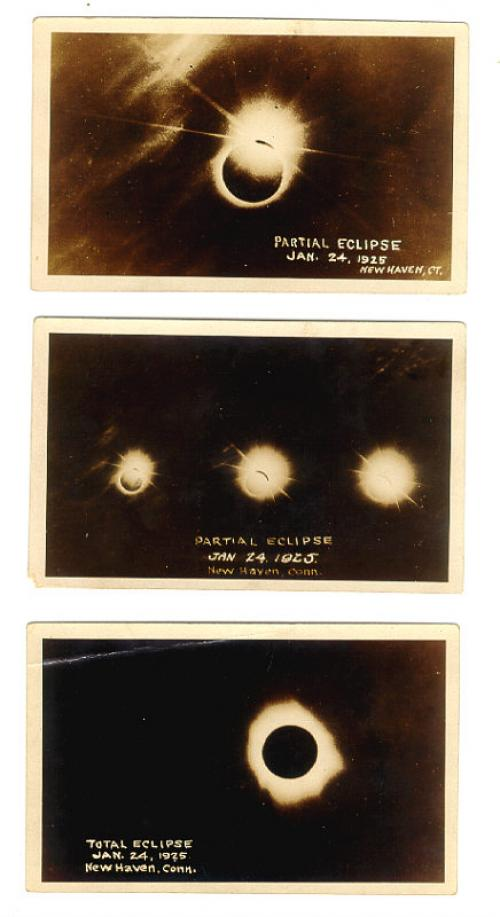 Vintage Photographic postcards of Eclipse New Haven 1925