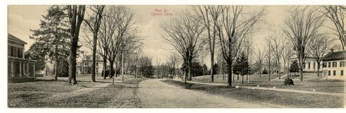 Vintage post card of Main ST Clinton Conn