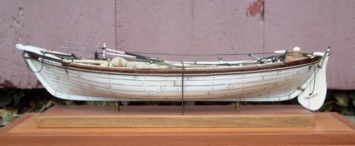 Antique Ivory Whaleboat ships model diorama completely outfitted