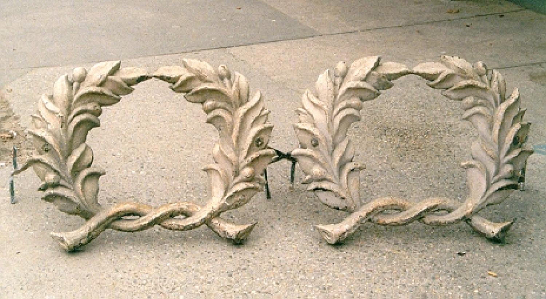 Antique cast iron architectural ornaments
