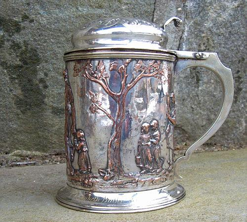 Rare Antique SP Swim Club trophy stein 1863