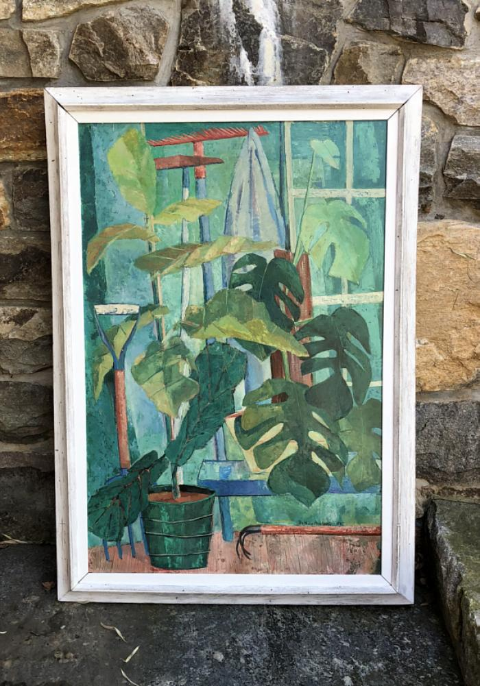 Nathan Margolis oil painting titled Green House