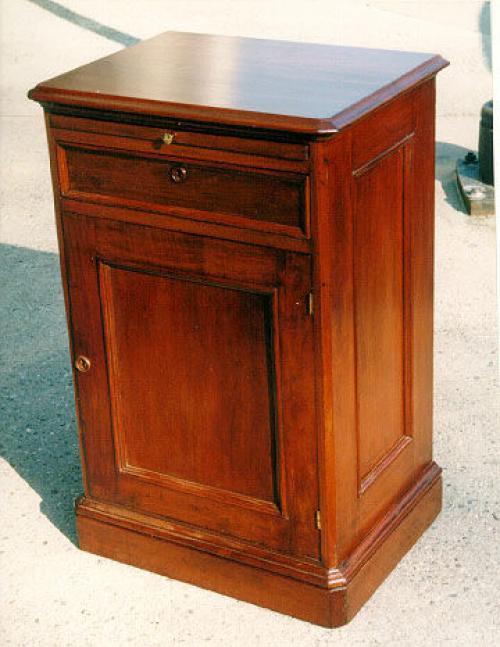 Antique Edison cylinder music box Victorian walnut cabinet