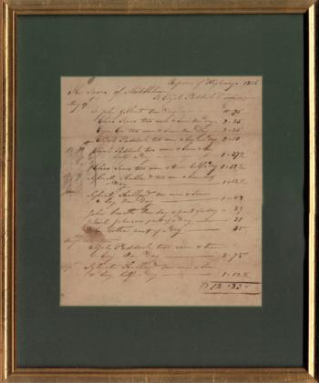 Image of Antique Receipt dates 1826 Middletown Connecticut