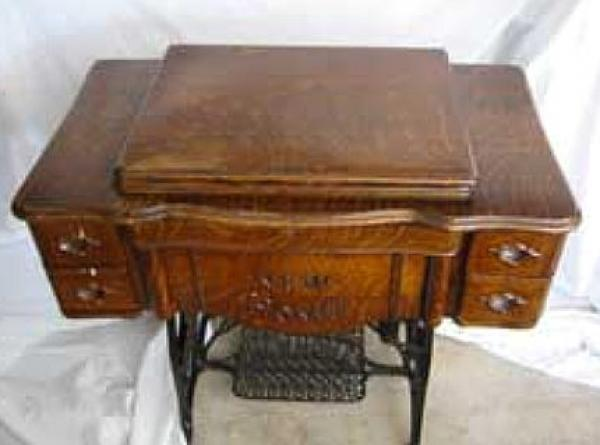 Antique New Home pedal sewing machine