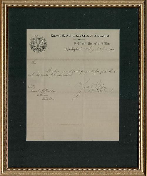 Antique Ephemera Legal Document Connecticut