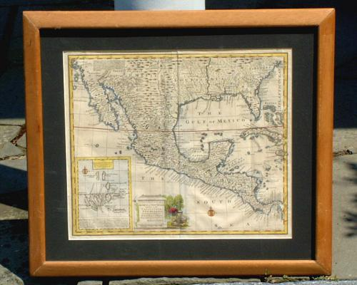 Antique Map of California Emanuel Bowen C1745