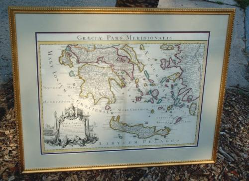 Antique map of Greece Covens and Mortier c1730