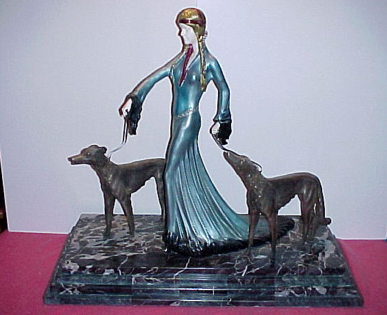 Antique Poertzel Art Deco Sculpture
