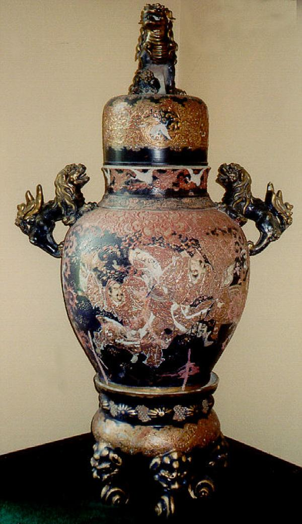 Price My Item Value Of Antique Satsuma Tall Vase With Warriors