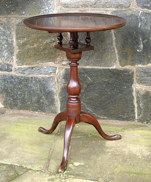 Antique English Bird Cage Tilt Top Table