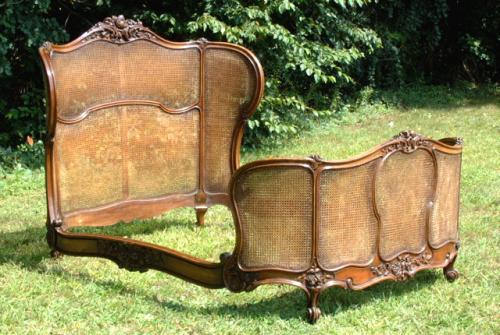Price my item value of antique french cane walnut bed 1860 for Classic french beds