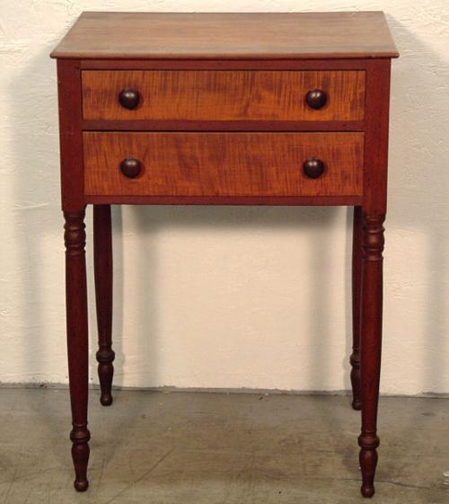 Price my item value of antique tiger maple and cherry for Night stand cost
