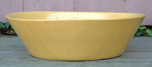 Antique Yellow ware stone ware basin