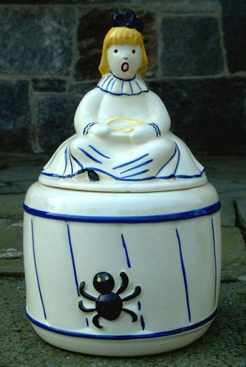 Little Miss Muffet Ceramic Cookie Jar