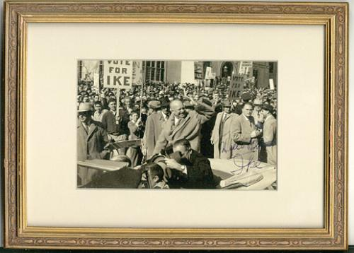 Autographed photograph president Eisenhower