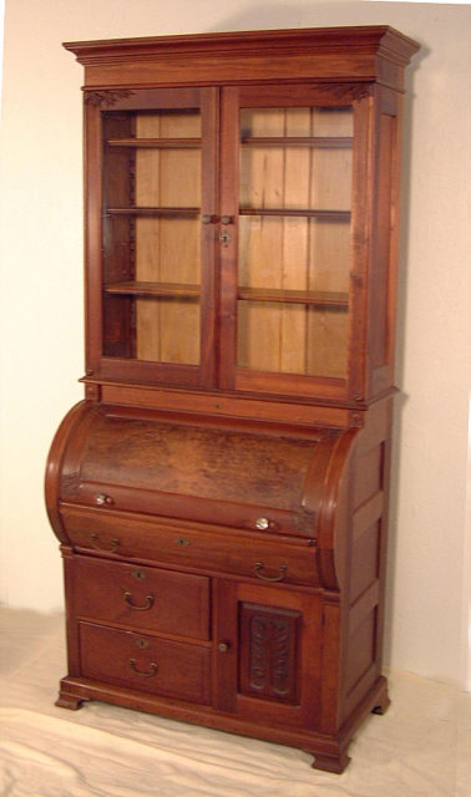 Antique Victorian Walnut cylinder desk