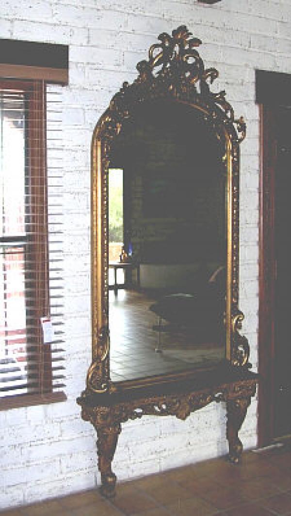 Price My Item: Value of Antique Pier Mirror in gold leaf