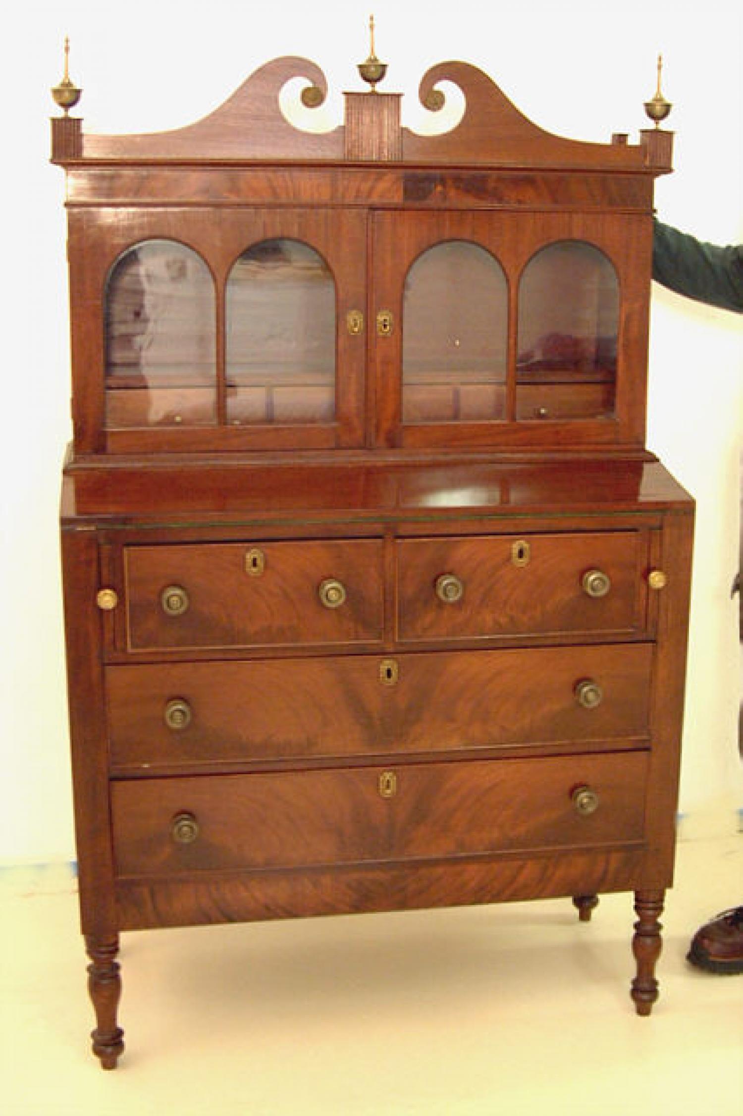 Period American Sheraton Secretary bookcase