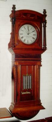 Antique Howard regulator electric wall clock