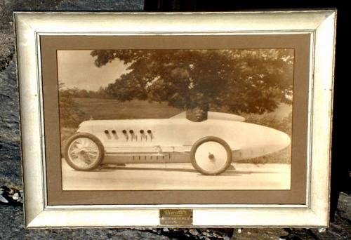 Vintage Race Car and Driver circa 1910 Photograph