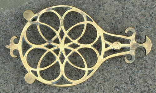 Antique 18th Century American Brass Trivet