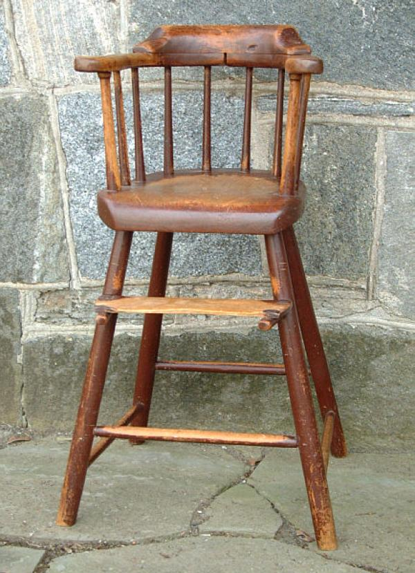 - Antique American Windsor Childs High Chair