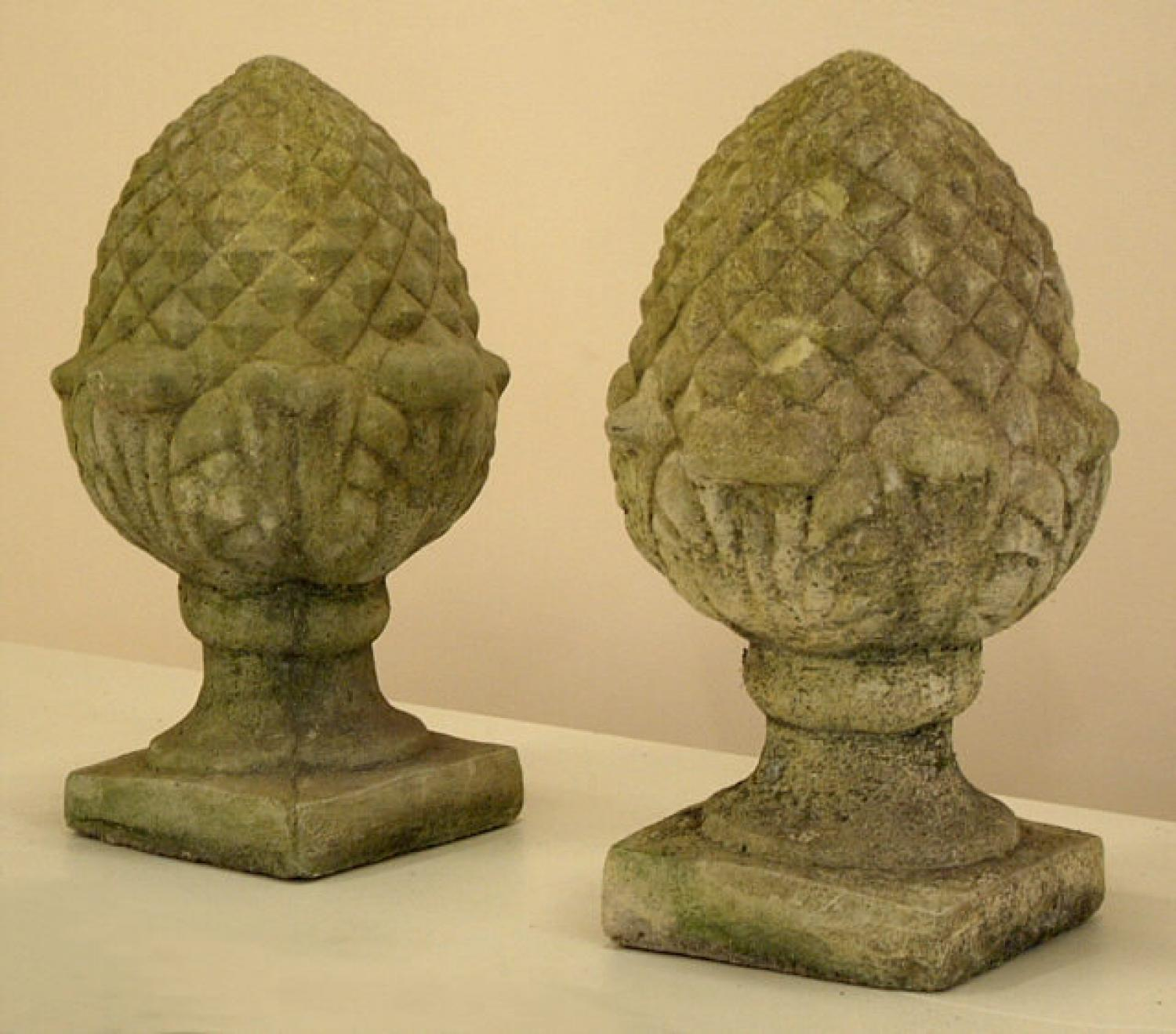 Architectural Carved Stone Pineapples