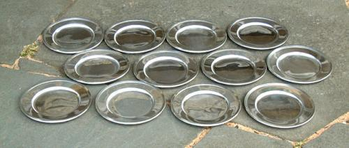 Vintage Wallace Sterling Silver Bread Plates