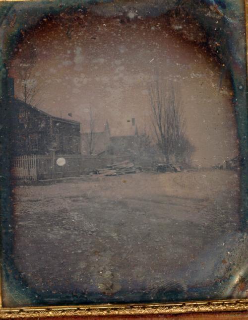 Antique daguerreotype landscape