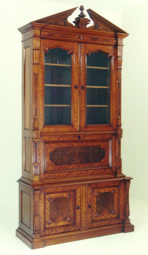 Joseph Kusterer Renaissance Revival Secretary Desk