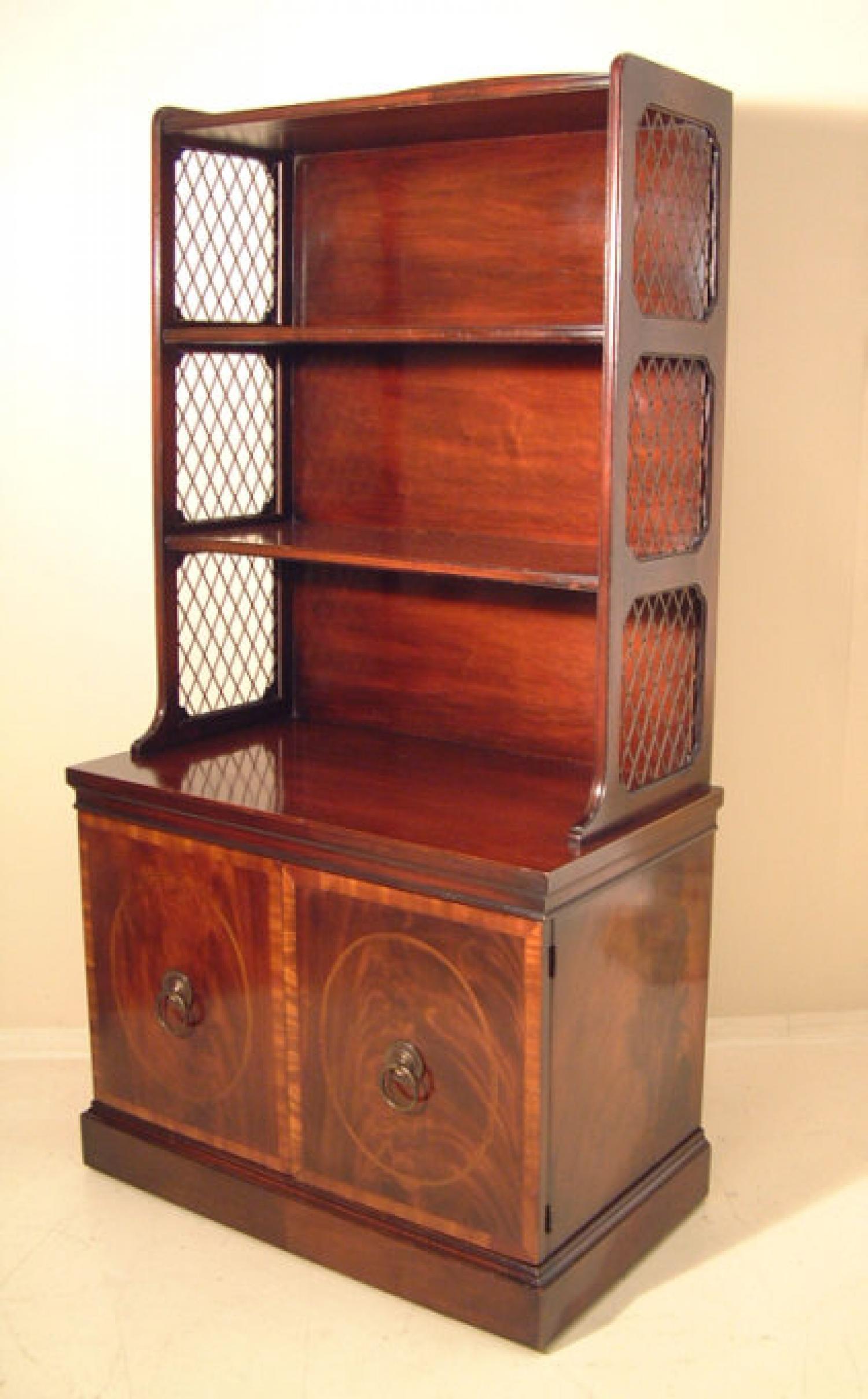 regency style cabinet etagere bookcase c1940. Black Bedroom Furniture Sets. Home Design Ideas