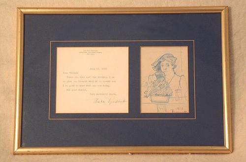 Eleanor Roosevelt Autograph letter and drawing