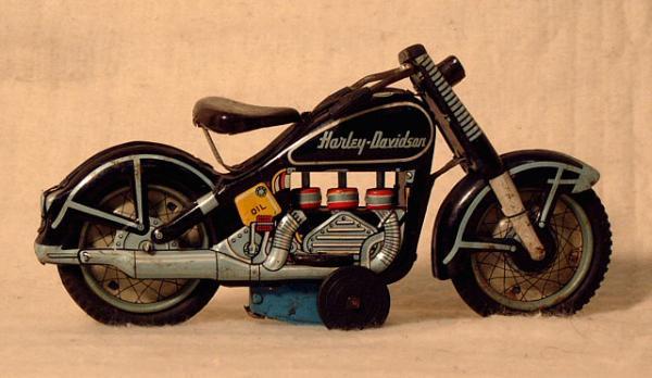 Harley Davidson Toys : Price my item value of harley davidson motorcycle tin toy