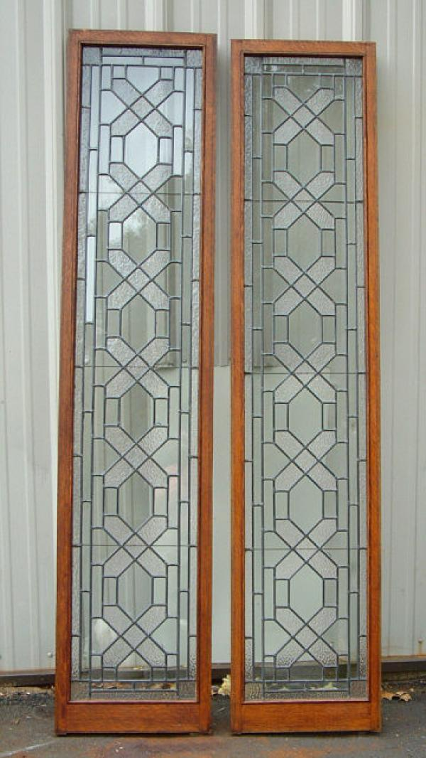 Price my item value of antique match pair leaded glass for R value of glass windows