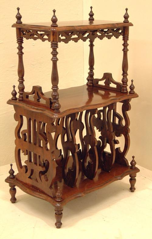 Antique Victorian Rosewood magazine stand