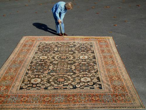 Antique Persian Mahal Oriental Rug
