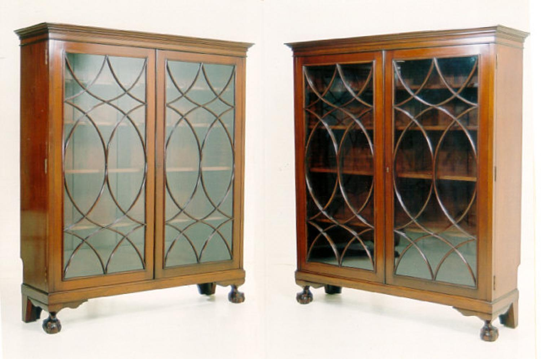 Ernest Hagen Pair NY bookcases in mahogany
