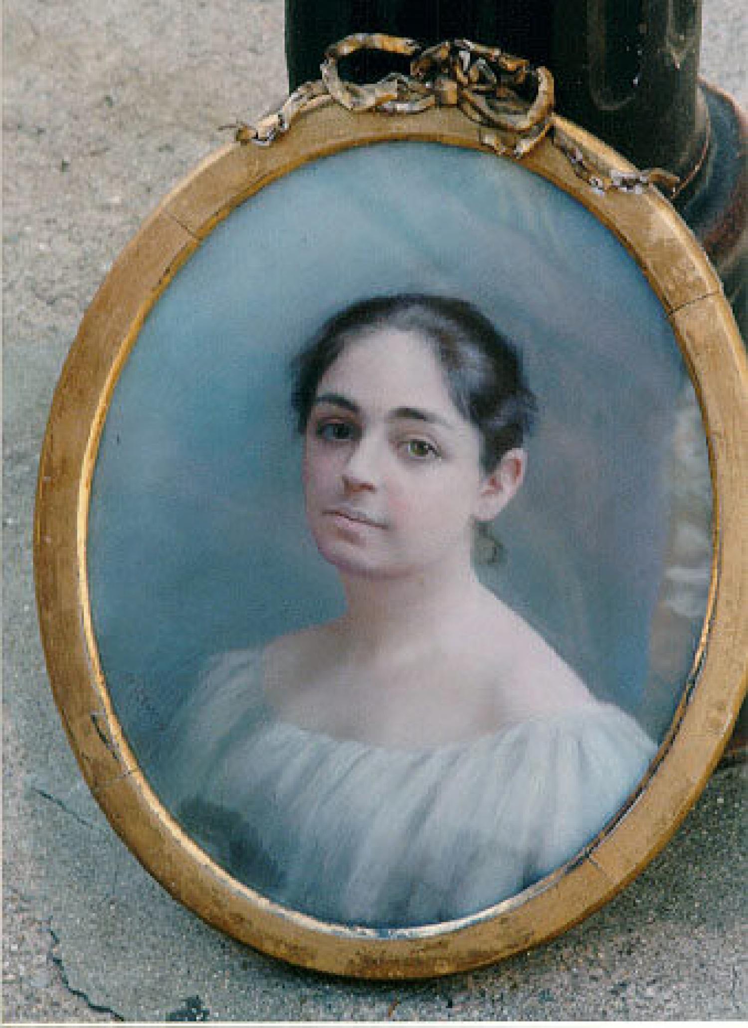 Jenny Lind portrait pastel painting by M lewis