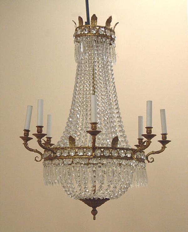 Crystal Chandelier Price: Price My Item: Value Of Antique French Hanging Crystal