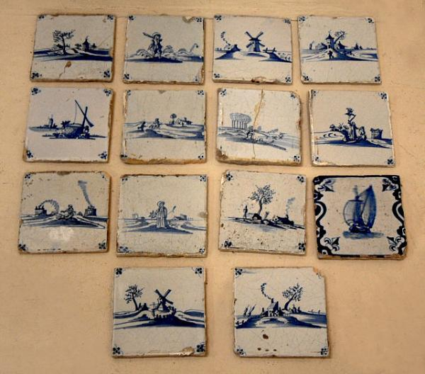 price my item value of antique set delft hand painted tiles