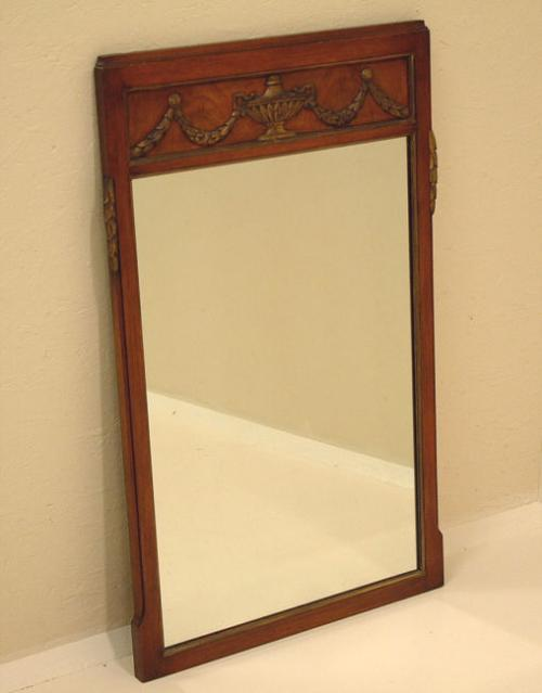 Price my item value of adams style mahogany urn top wall for Adam style mirror