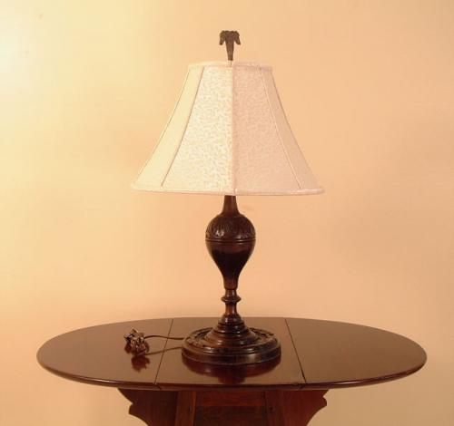 price my item value of hand carved walnut table lamp. Black Bedroom Furniture Sets. Home Design Ideas