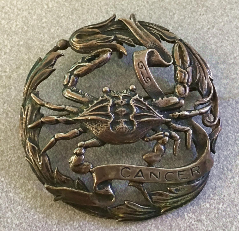 Peruzzi sterling silver cancer brooch