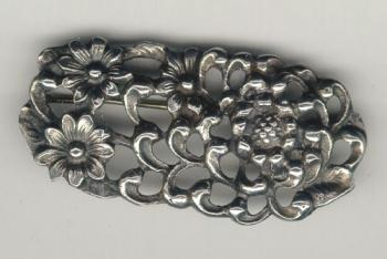 Image of Peruzzi floral brooch in sterling silver c1900