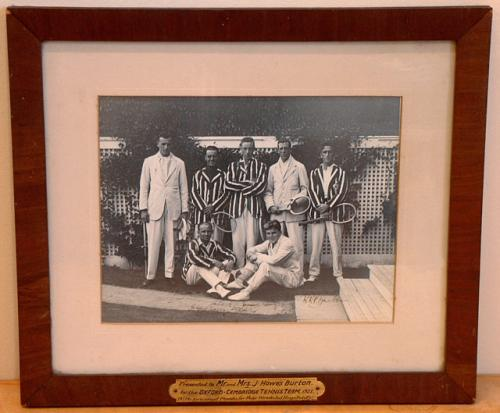 Oxford University Prentice Cup Lawn Tennis Club Photograph